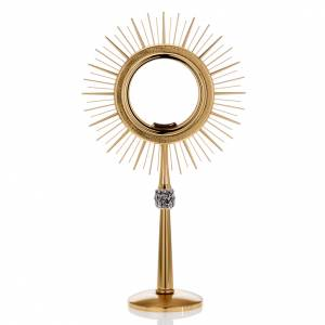 Monstrance glass display with rays, brass s1