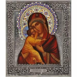 Mother of God Vladimir silver s1