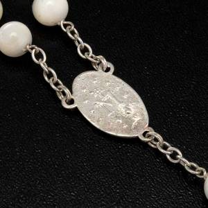 Mother of pearl rosary beads, round, 7mm s6