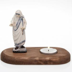 Candle holders: Mother Therese with votive candle