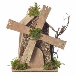 Moulin à vent crèche 5/6cm 14x9x15cm s1