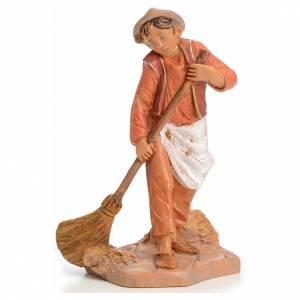 Figuras del Belén: Muchacho barriendo 12 cm Fontanini