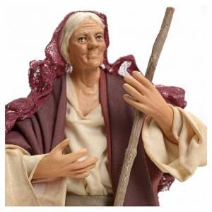Mujer barriendo 18 cm pesebre Napolitano s4
