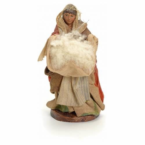 Mujer con lana cm 8 pesebre napolitano s1
