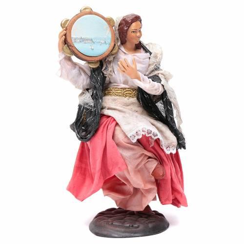 Mujer con pandereta 18 cm. belén napolitano s2