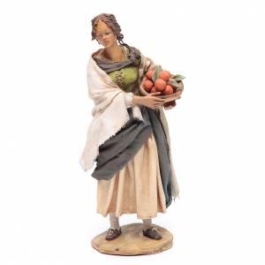Pesebre Angela Tripi: Mujer de pie con cesto de naranjas 18 cm Angela Tripi