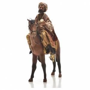 Krippenfiguren von Angela Tripi: Mulatter König auf Pferd 13cm Angela Tripi