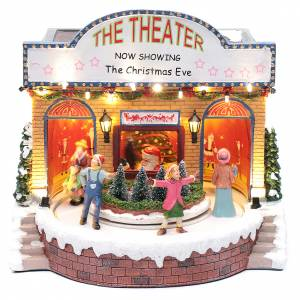 Christmas villages sets: Musical theatre with lights 25x25x20 cm
