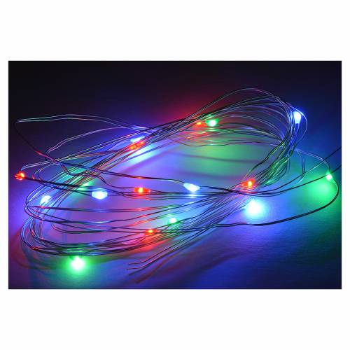 Nano led multicolor 15 led 3m presepe s2