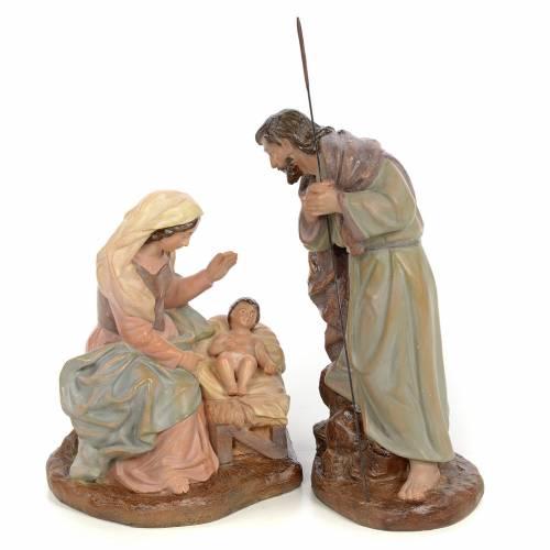 Natividad 20 cm Pasta de madera dec. Antigua s1