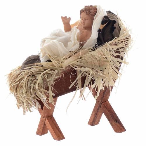 Nativité 55 cm en résine tissu style provençal s4