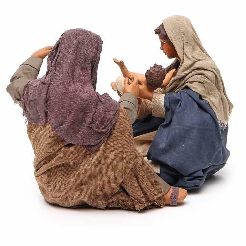 Nativité assise 24 cm crèche napolitaine s3