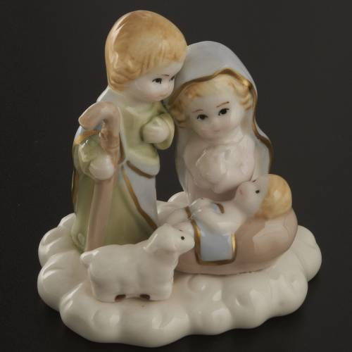 Nativité stylisée céramique 10 cm s2