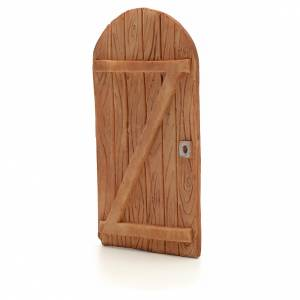 Balustrade, doors, railings: Nativity accessory, arched door in resin 11.5x5.5cm