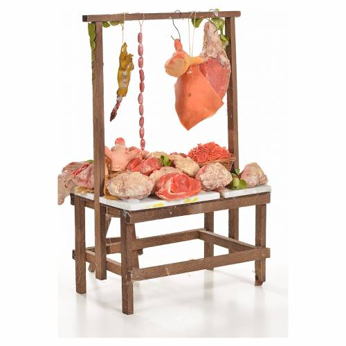 Nativity accessory, butcher's stall 20x27x44cm s3