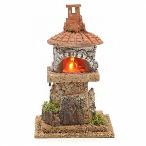 Fireplaces and ovens: Nativity accessory, electric fire 18x15x15cm