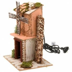 Nativity accessory, electric windmill 20x14x24 cm s2