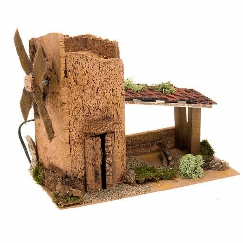 Nativity accessory, electric windmill 31x17x14 cm s1