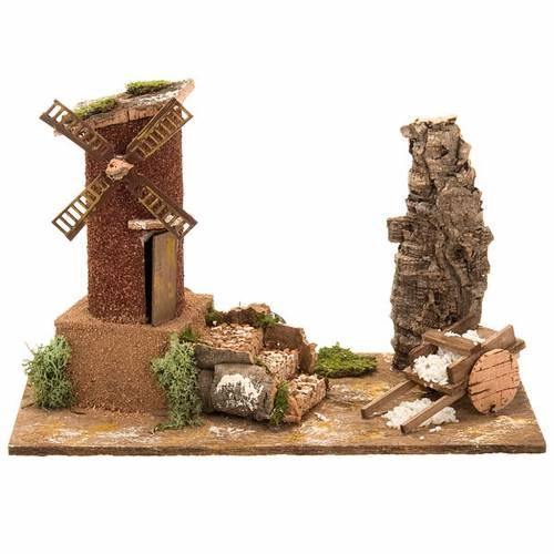 Nativity accessory, electric windmill 31x17x24 cm s1