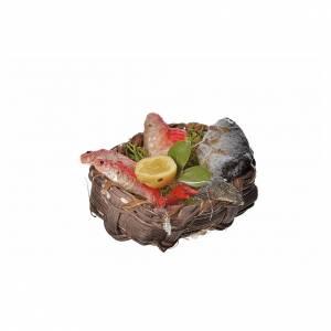 Nativity accessory, fish basket in wax, 4.5x5.5x6cm s3