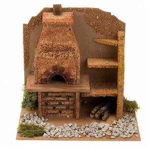 Nativity accessory, oven with hood and shelves, 20x14x16 cm s1