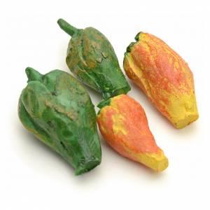 Miniature food: Nativity accessory, peppers, 4 pcs.