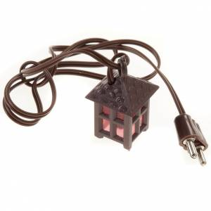 Nativity lights and lamps: Nativity accessory, plastic lamp with red light, 2.5cm