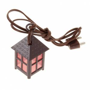 Nativity lights and lamps: Nativity accessory, plastic lamp with red light, 4cm.