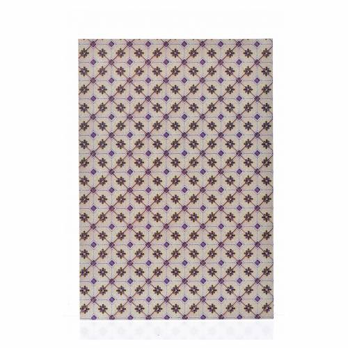 Nativity accessory, thin cardboard floor, lozenges 24x16.5cm s1