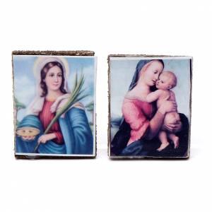 Home accessories miniatures: Nativity accessory, wooden picture, 2pcs, 4x3.5cm