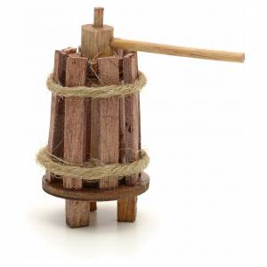 Nativity accessory, wooden press for do-it-yourself nativities, s1