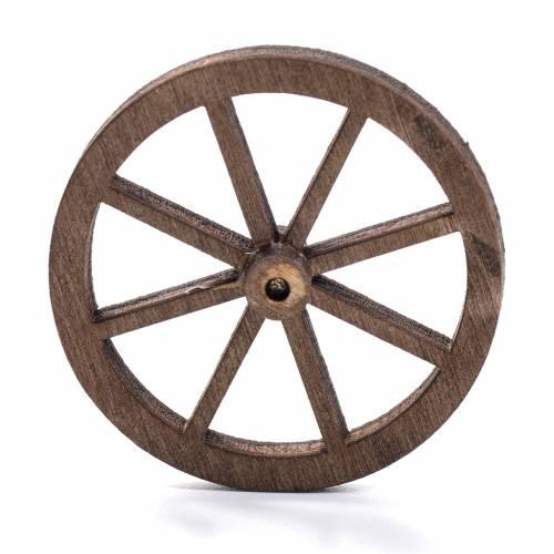 Nativity accessory, wooden wheel, diam. 4cm s1
