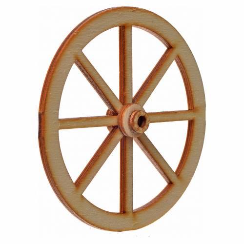 Nativity accessory, wooden wheel, diam. 8cm s2
