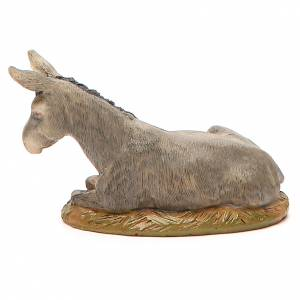 Nativity Donkey in painted resin, 10cm Martino Landi s2