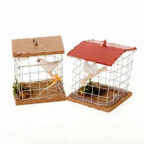 Nativity figurine, cage with bird, 10cm s1