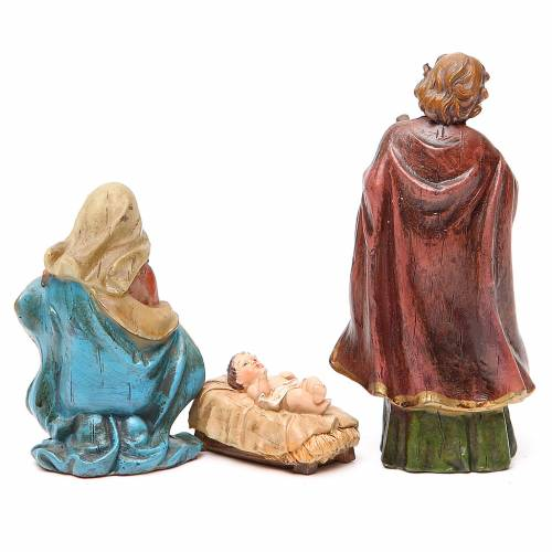 Nativity figurine in resin 15cm, multicoloured s2