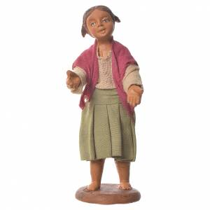 Neapolitan Nativity Scene: Nativity figurine little girl 14 cm