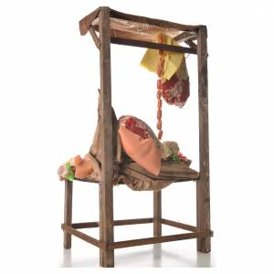 Nativity meat and cured meat stall, 41x28x15cm s3