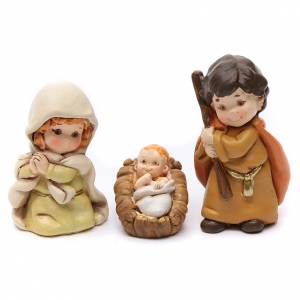 Resin and Fabric nativity scene sets: Nativity scene characters 13 pieces in resin 7 cm