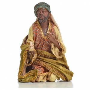 Nativity scene, Ethiopian Wise Man 18cm, Angela Tripi s5