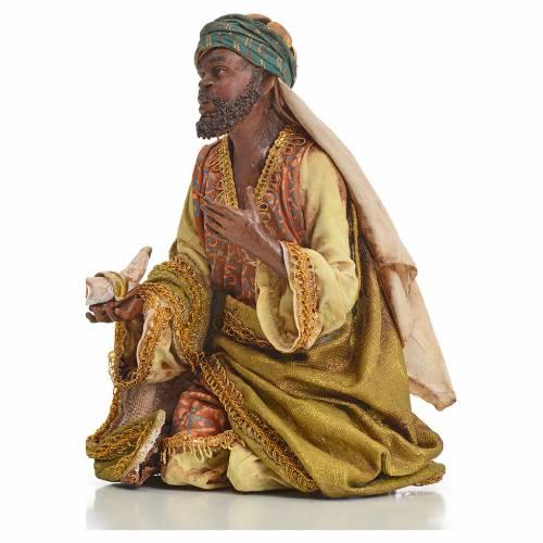 Nativity scene, Ethiopian Wise Man 18cm, Angela Tripi s6