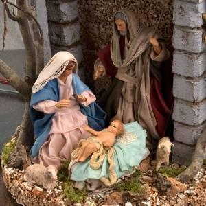 Nativity scene, Holy family glass dome 30 cm s3