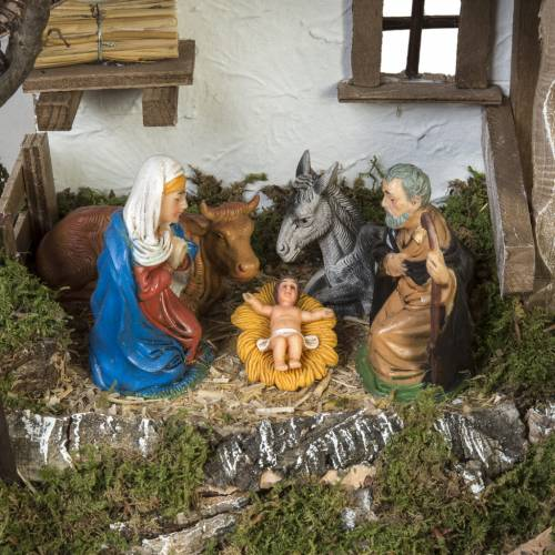 Nativity Scene stable refuge style 28x48x24 cm s2