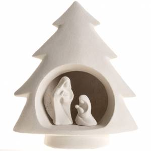 Nativity scene, tree in fire clay s1