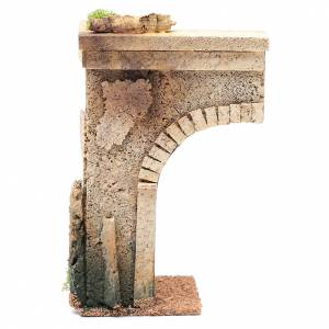 Settings, houses, workshops, wells: Nativity scene wall with half arch