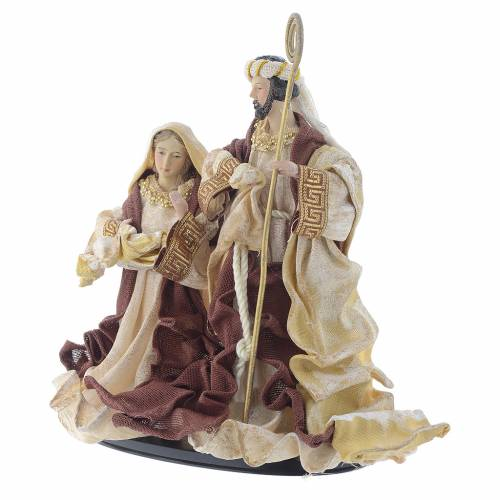 Nativity scene with arch in Cream Brown resin measuring 25cm s2