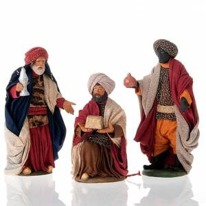 Neapolitan Nativity Scene: Nativity set accessories Three wise kings 14 cm figurines
