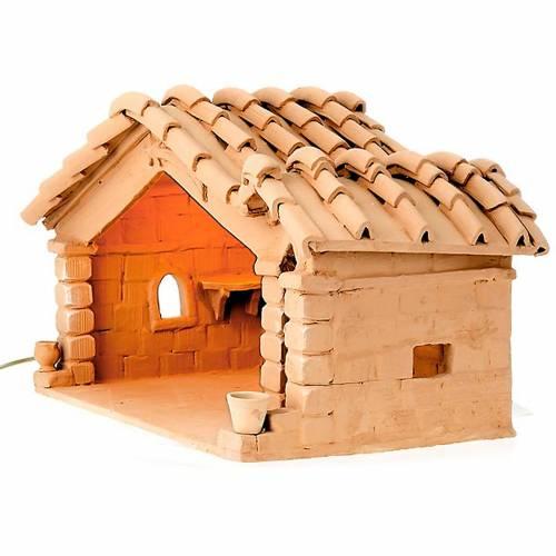 Nativity set accessory, manger in terracotta s1