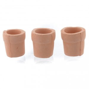 Home accessories miniatures: Nativity set accessory, set of 3 terracotta jars