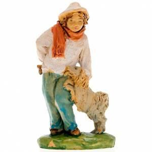 Nativity set accessory, Shepherd with dog figurine s3